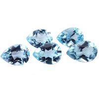 Topaze bleue Sky Blue (traitée) P/S 7.00mm 0.80 ct