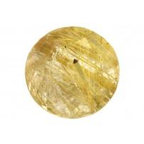 Quartz à Rutile doré, facetté RD 14.15mm 9.06 ct